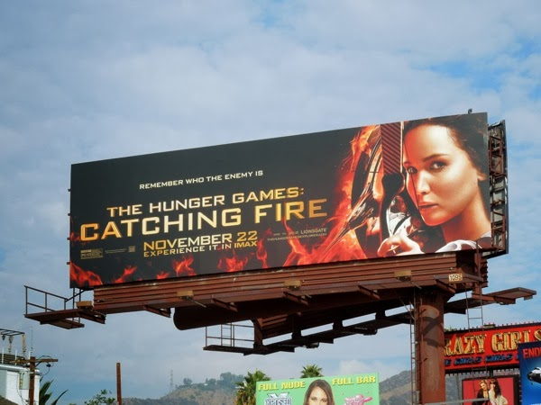 Hunger Games Catching Fire movie billboard
