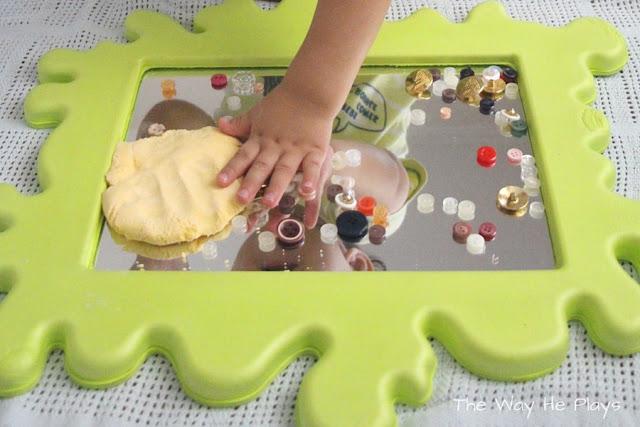 Enjoying the sensory feel of the dough