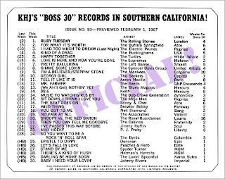 KHJ Boss 30 No. 83 - February 1, 1967