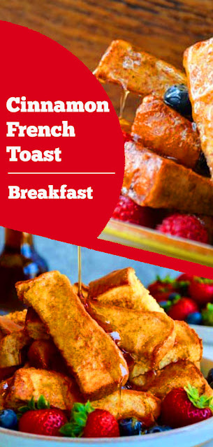 Cinnamon French Toast - These recipe are easy, quick, and tasty breakfast recipe. #cinnamon #french #toast #breakfast #frenchtoast