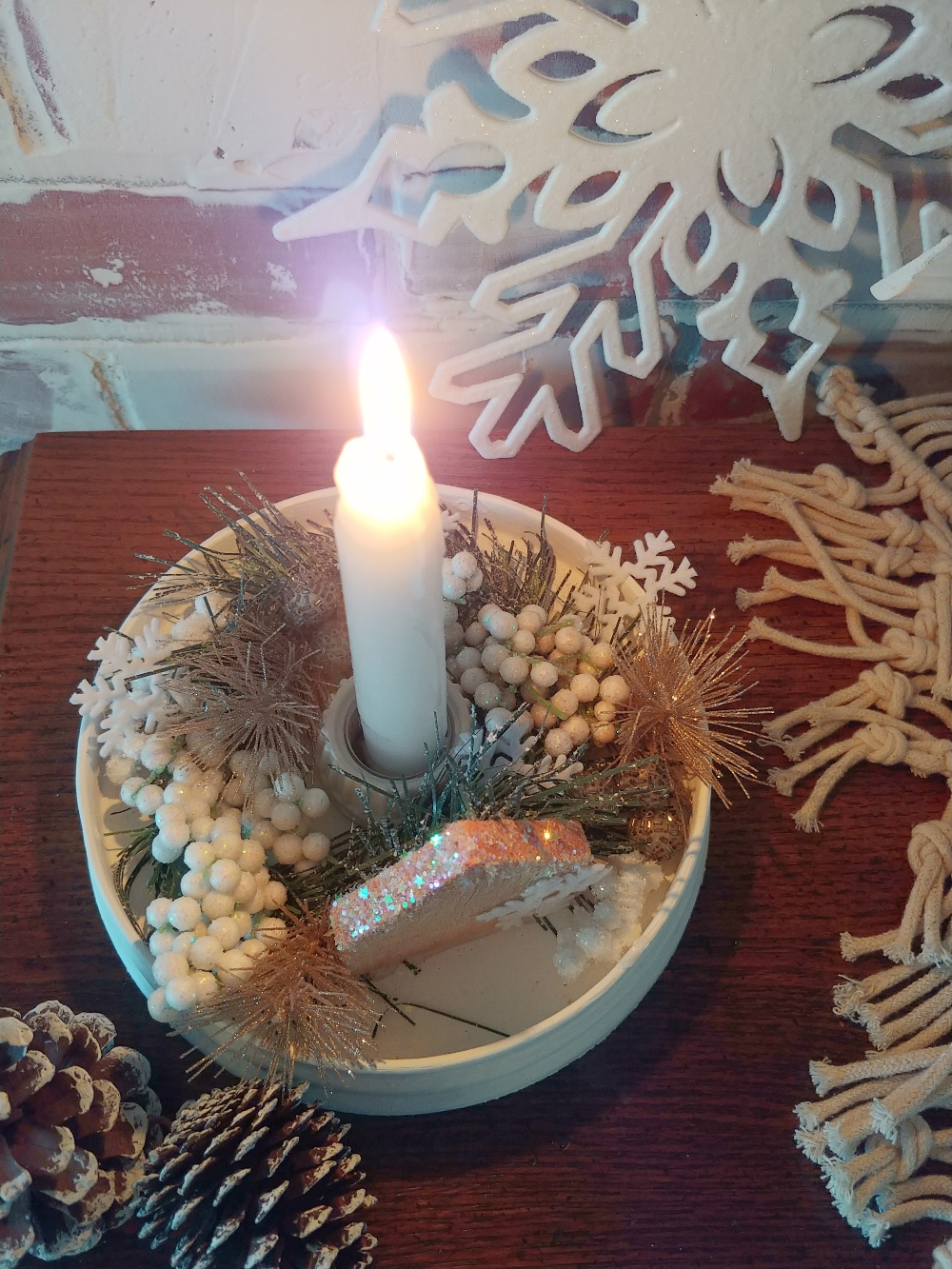 how to make a candle holder with a light fixture