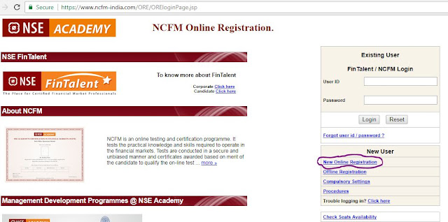 How to apply for NCFM Certification Online