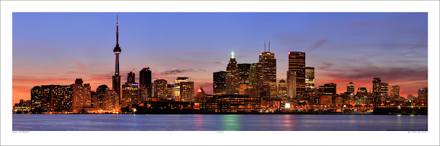 Toronto wide panoramic photo print for sale, Martin St-Amant wikipedia Owen Art Studios Panoramas