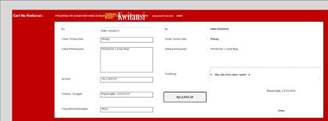 Aplikasi Cetak Kwitansi Laporan BOS Excel
