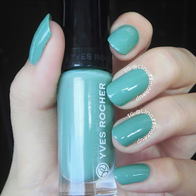 Swatch & Nail Art ft YVES ROCHER-Botanical Color Nail Polish 71-Menthe