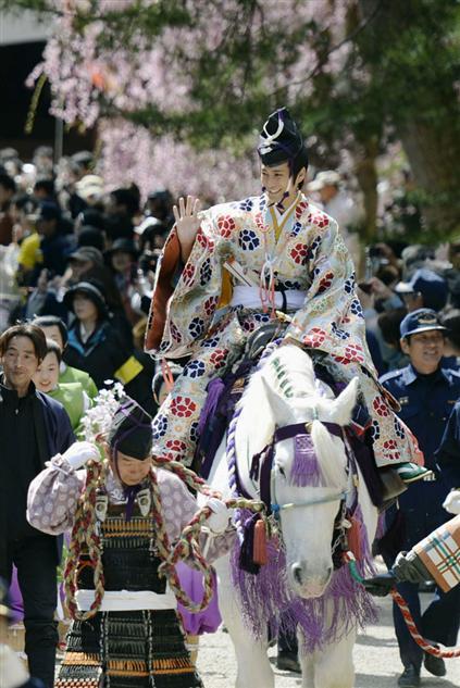 Fujihara Matsuri (Spring Festival) at Hiraizumi Town, Iwate Pref.