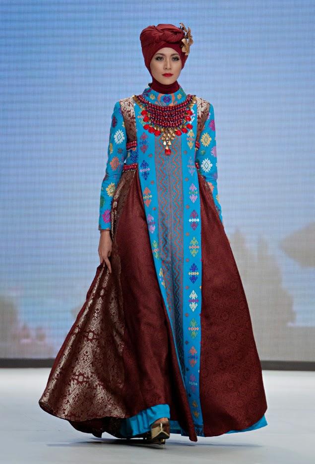 Contoh Trend Model Baju Muslim Dian Pelangi Modis