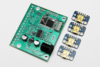 TouchDRO Adapter Board for iGaging Scales - board with USB Mini-B breakout boards