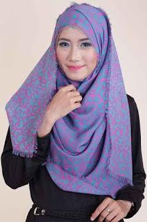 Shafeeya Kerudung Rawis Motif Auresya - Tosca Pink