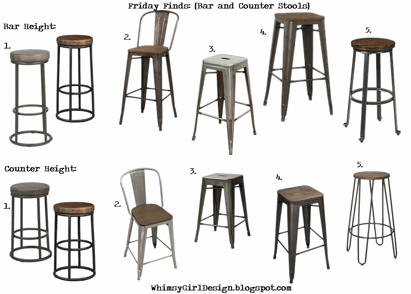 Miraculous Whimsy Girl Friday Finds Bar And Counter Stools Spiritservingveterans Wood Chair Design Ideas Spiritservingveteransorg