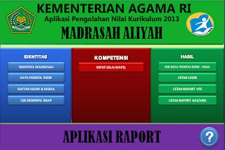 Aplikasi Penilaian dan Raport K13 MA (Madrasah Aliyah) Semua Jurusan