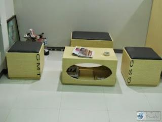 Kontraktor Interior - conference table, filing cabinet, guest chairs, workstation, divider, partition