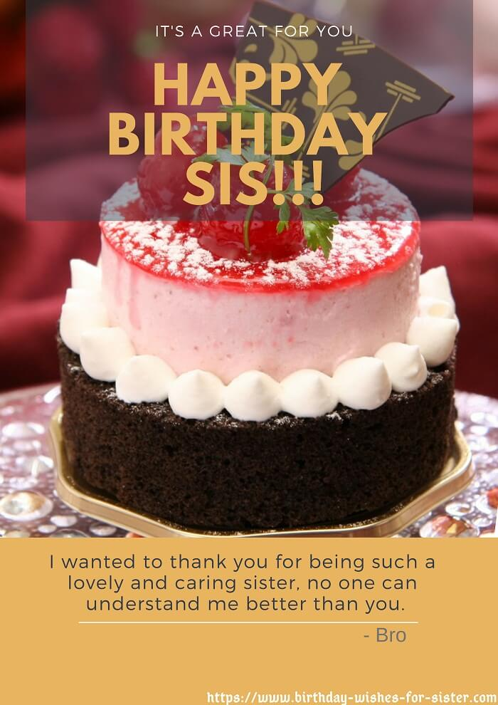 400 Perfect Happy Birthday Sister Status Wishes Images For