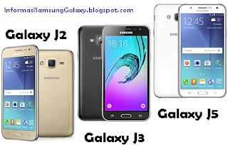 Samsung Galaxy J2 vs J3 vs J5 Harga dan Spesifikasi
