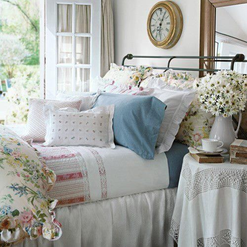 Bedroom Design Blue And White Shabby Chic Bedroom Furniture Uk Bedroom Curtains For Small Windows Bedroom Curtains Ikea: Hydrangea Hill Cottage: Red, White And Blue Cottage Bedrooms