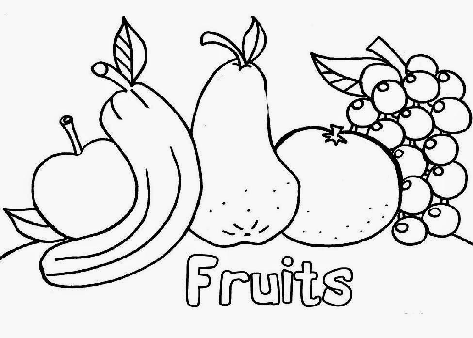 Fruit Coloring Sheets | Free Coloring Sheet