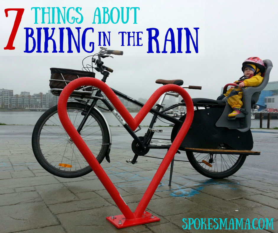 spokesmama 7 things about biking in the rain