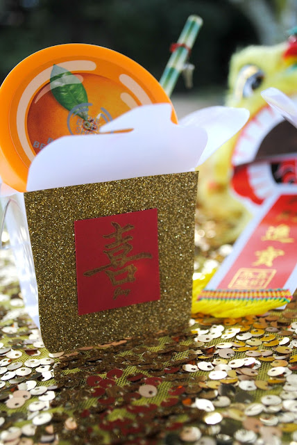 Chinese New Year DIY party  favors. For more inspiration visit www.fizzyparty.com