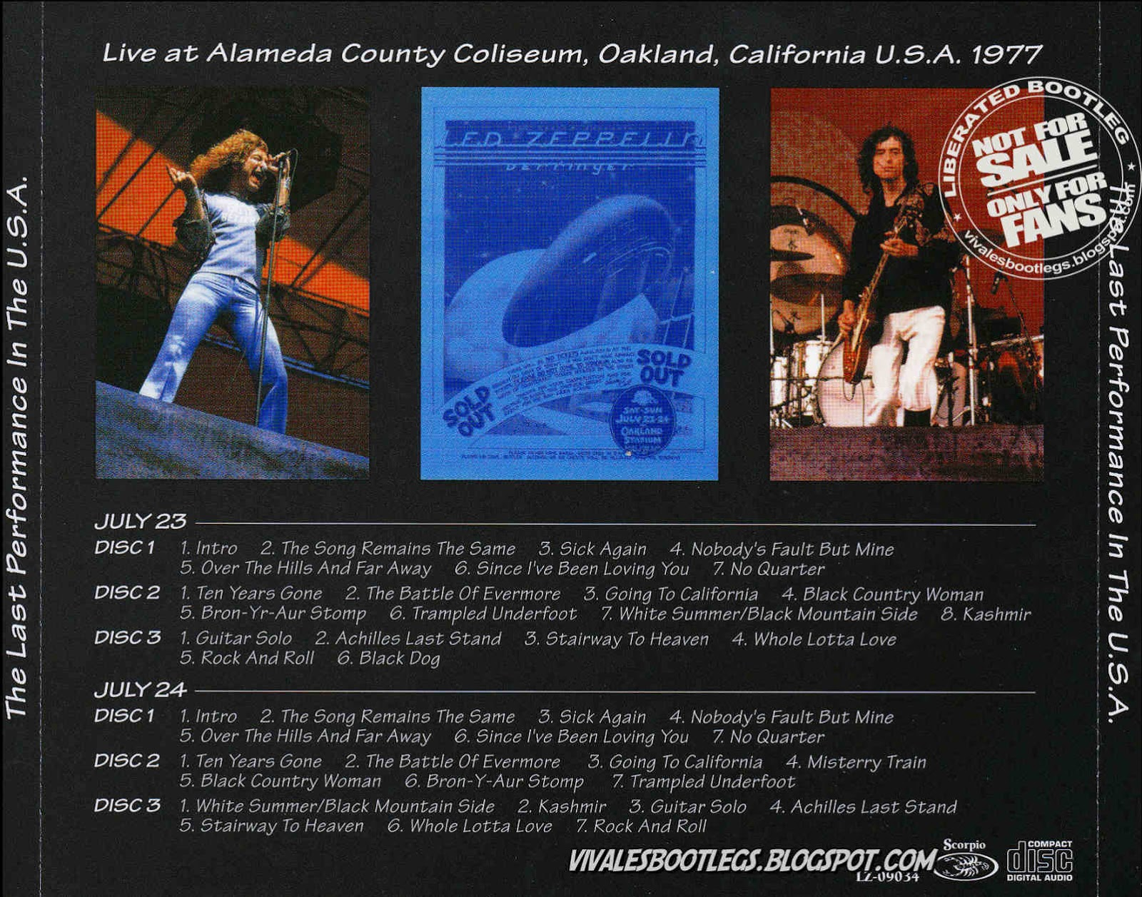 Led Zeppelin: The Last Performance In USA. Alameda County ...