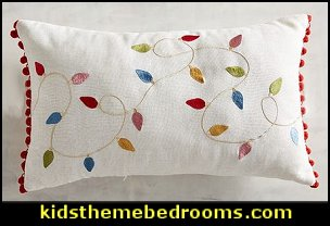 LED Light-Up Merrily Modern Lumbar Pillow  Christmas decorating ideas - Christmas decor - Christmas decorations - Christmas kitchen decor - santa belly pillows - Santa Suit Duvet covers - Christmas bedding - Christmas pillows - Christmas  bedroom decor  - winter decorating ideas - winter wonderland decorating - Christmas Stockings Holiday decor Santa Claus - decorating for Christmas - 3d Christmas cards - xmas tree decor