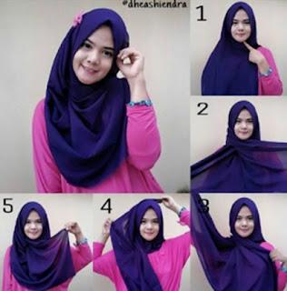 Cara memakai jilbab pashmina tanpa ciput