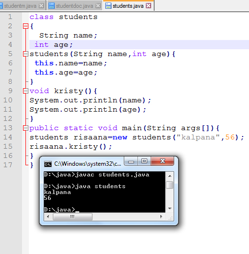 Constructor In Java Programming Language