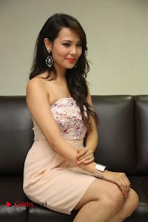 Actress Sagarika Pictures in Short Dress at Friend Request Press Meet  0133