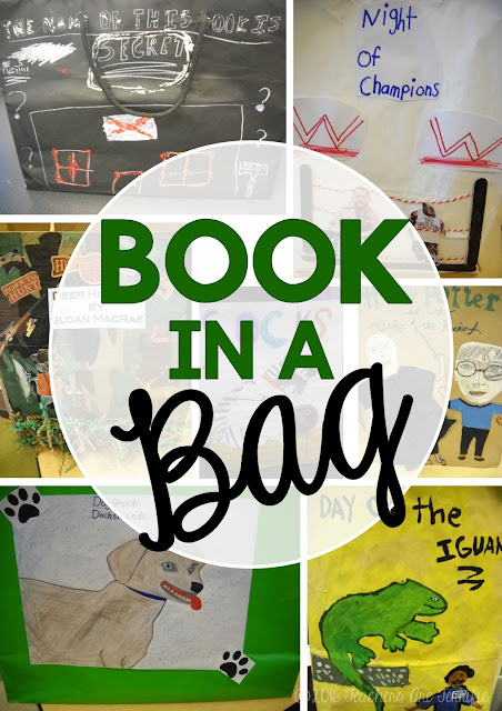 Book Report Idea: It's called Book in a Bag- Students decorate a paper bag with a scene from the book and fill the bag with 5 items that represent something from the book! Fabulous way to do a book report!