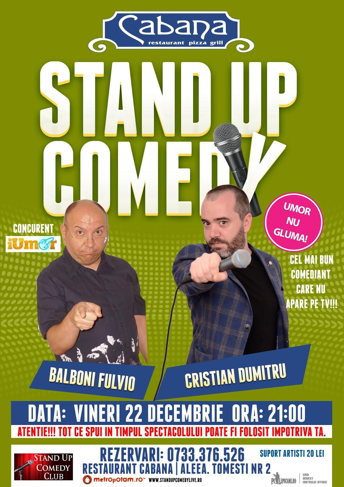 Stand-Up Comedy Bucuresti Vineri 22 Decembrie