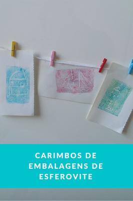 Carimbos feitos de embalagens de esferovite