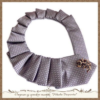 Ожерелье из мужского галстука дизайнера Nikole Deponte