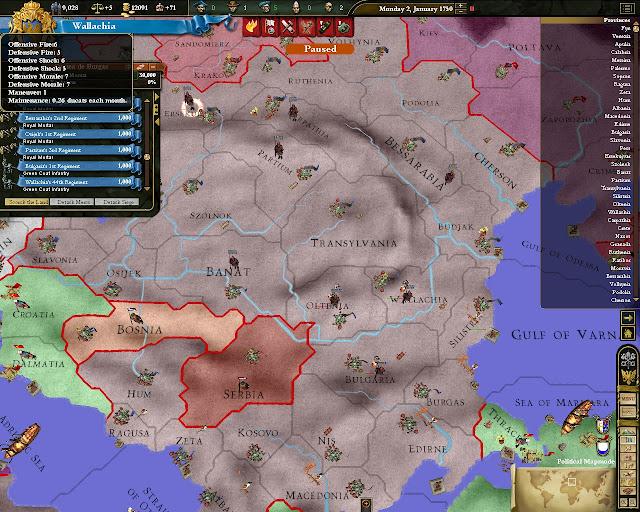 Europa Universalis 3 - Map Screenshot