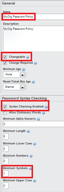 Creating new Liferay Password Policy