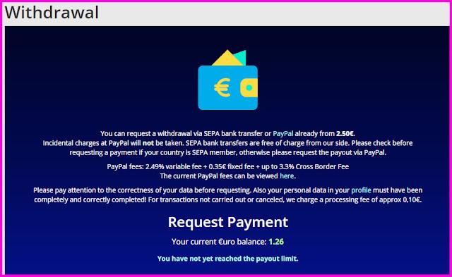 إكسب 2 يورو يوميا عبر هذا الموقع بأسهل طريقة للمبتدئين مع إثبات السحب