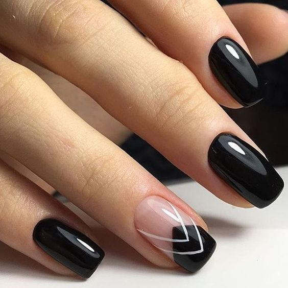 awesome black nail art design