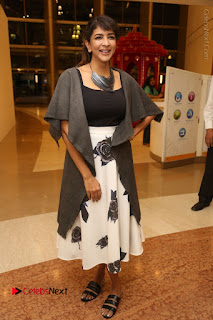 Actress Lakshmi Manchu Pos at Asian Para Badminton Championship Winners Felicitation Ceremony  0077.JPG