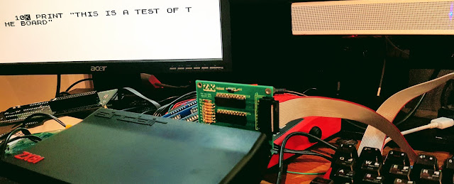 Testing the ZX-Key Prototype Keyboard and Interface with a ZX81