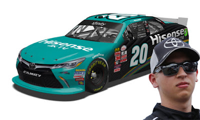 Kyle Benjamin in his No. 20 Hisense Toyota Takes Xfinity Pole