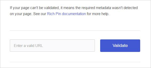Validate rich pins using pinterest validator