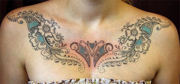 Henna Tattoo Chest: Tattoos Design Ideas: 30 Best And Beautiful Henna Tattoo