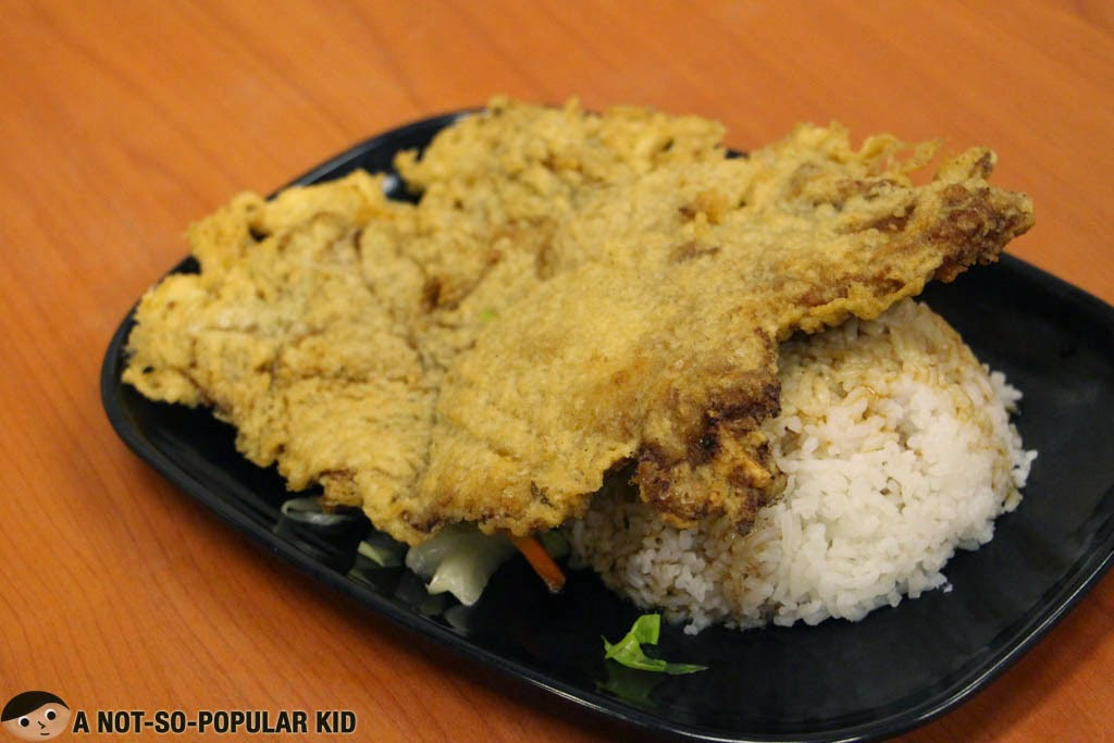 The best-selling Pork Chop Rice of Tasty Dumpling