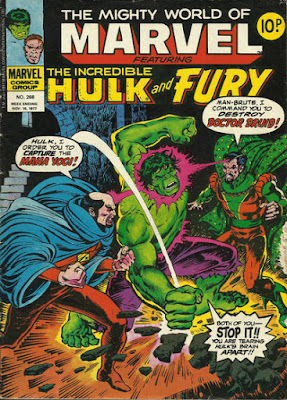 Mighty World of Marvel #268, the Hulk and Dr Druid