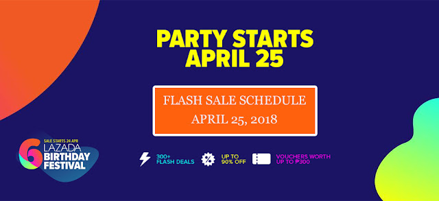 Lazada Birthday Sale Flash Sale Schedule April 25 2018