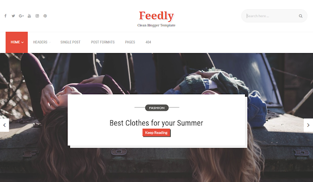 Feedly seo responsive blogger template