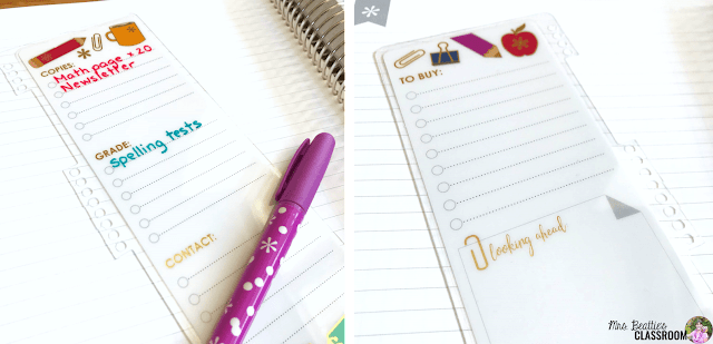 Photo of Erin Condren snap-in dry-erase bookmark