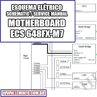 Esquema Elétrico Placa Mãe / Motherboard ECS 648FX-M7 - REV 3.0 Manual de Serviço  Service Manual schematic Diagram Placa Mãe / Motherboard ECS 648FX-M7 - REV 3.0    Esquematico Placa Mãe / Motherboard ECS 648FX M7 - REV 3.0