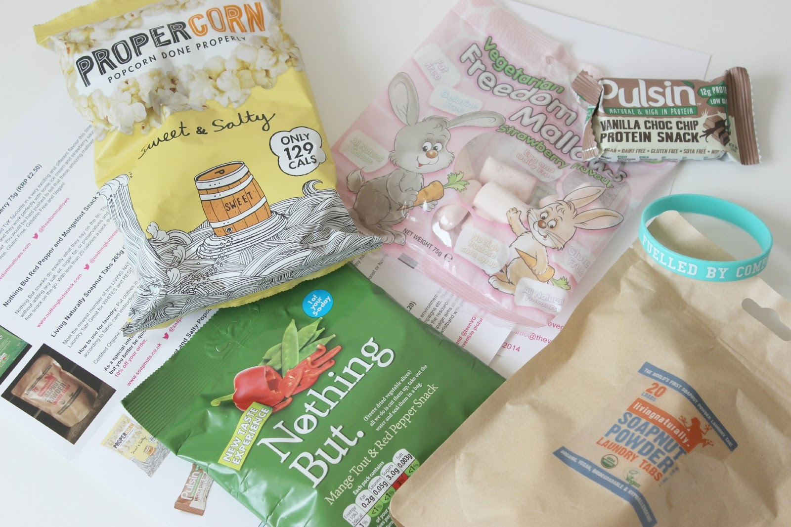 A picture of The Vegan Kind August Box