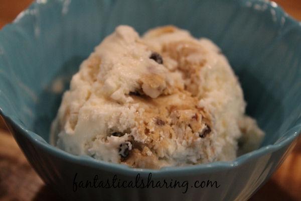 Biscoff Cookie Dough Ice Cream // Safe-to-eat Biscoff cookie dough in homemade vanilla ice cream - so decadent and delicious! #recipe #Biscoff #icecream #dessert