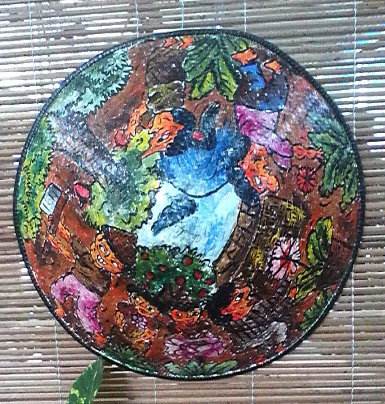 54 Gambar Lukisan Flora Caping Paling Hist