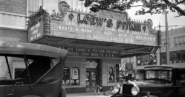 Theatre Marquees of New York in the 1930s Through George Mann's Lens